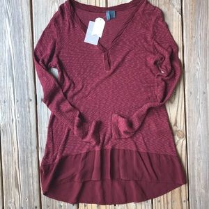 Anthropologie Left of Center Tunic new size S
